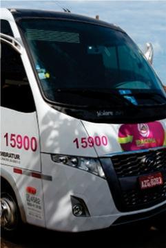 Envelopamento Ônibus Turismo - Iracema Turismo - Jaboti PR