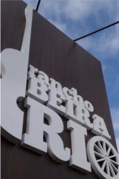 Totem em ACM e Letras Caixa - Rancho Beira Rio - Jaboti PR