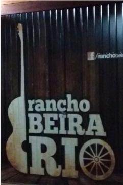 Adesivagem nas portas, janelas, placas de sinalização e Backdrop - Rancho Beira Rio - Jaboti PR